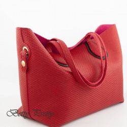 Женская сумка из экокожи (красный)
