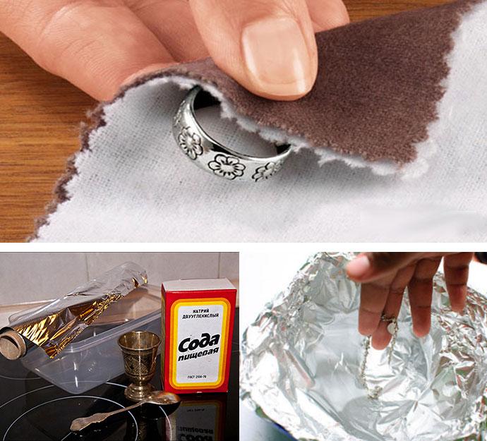 Как и чем почистить серебро в домашних условиях серьги 197