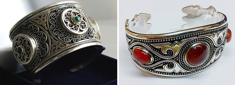 Казахские украшения с камнями