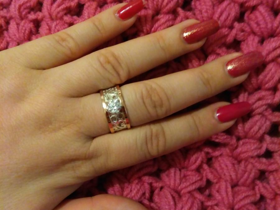 Широкое серебряное кольцо Карина