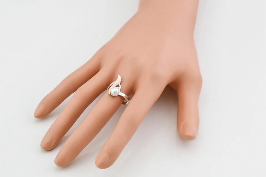 Кольцо Росинка с жемчугом