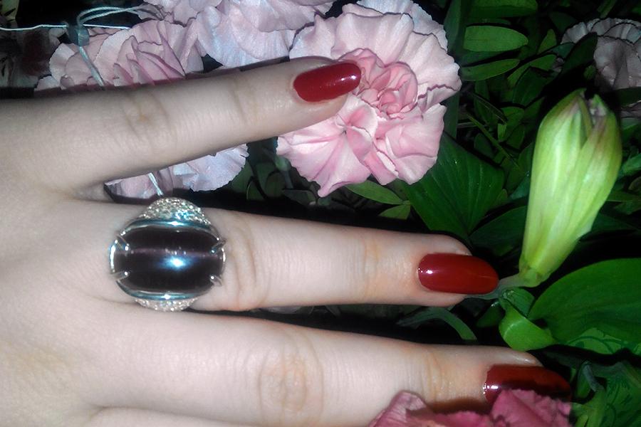 Кольцо ольга с улекситом