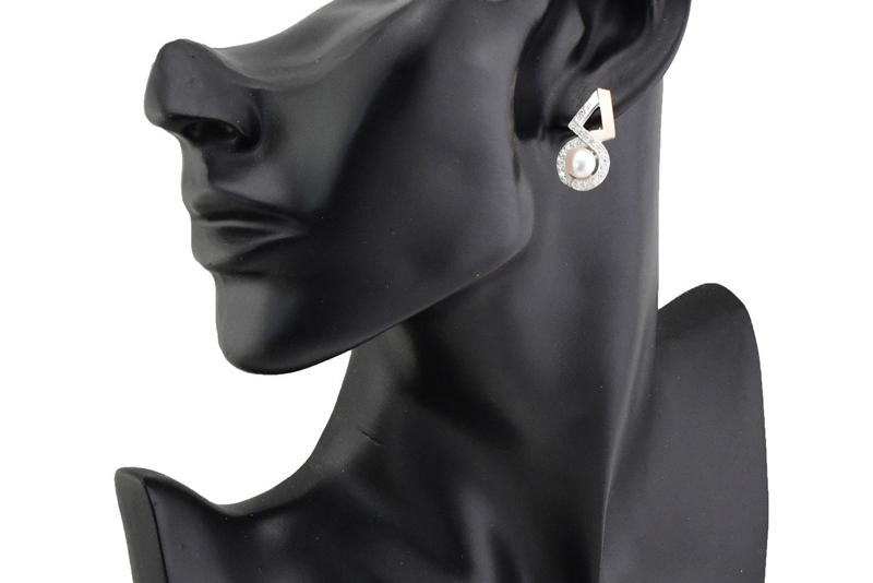 Серебряные серьги Луиза