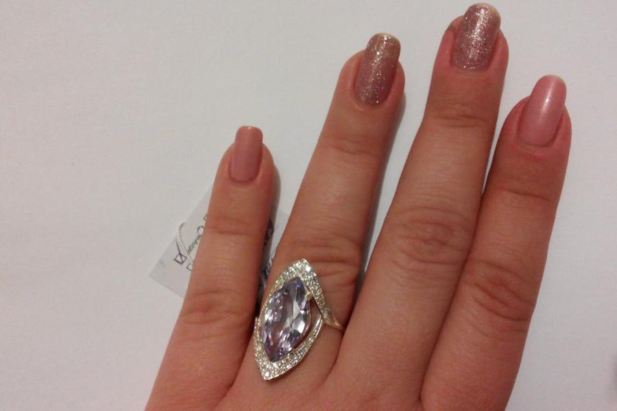 Кольцо Слеза из стерлингового серебра