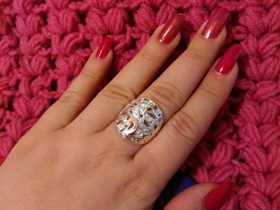 Серебряное кольцо Тропиканка