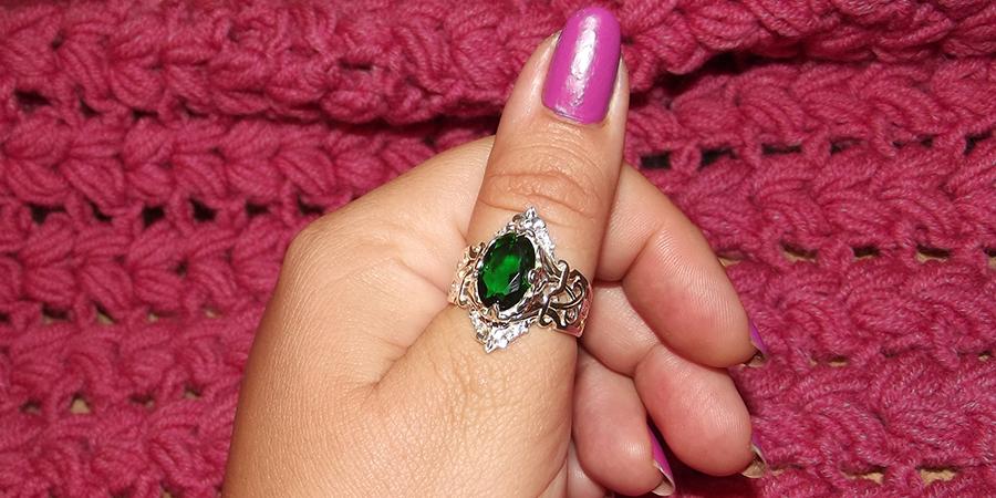 Серебряное кольцо Рэтро